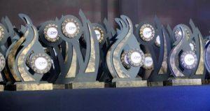 Ceremonia de premiación a campeones y subcampeones de Patinaje