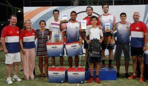 Premiación del primer torneo Copa Céspedpar de Pádel del CIT