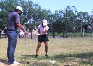 Primeros tiros de Golf en el CIT